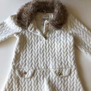Toddler girls Max Studio Fur Collar Dress 2T